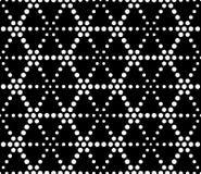 Vector moderne nahtlose heilige Geometriemusterpunkte, Schwarzweiss-Zusammenfassung stock abbildung