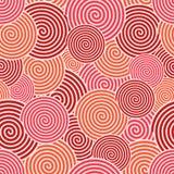 Vector moderne rode spiraalvormige naadloze achtergrond vector illustratie