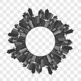 Vector moderne stad Royalty-vrije Stock Afbeelding