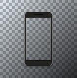 Vector modernen Smartphone mit leerem Schirm auf transparentem Hintergrund Lizenzfreie Stockfotos