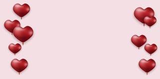 Vector modernen Valentinsgrußtagesfeiertagseinladungs-Kartenhintergrund Stockfotografie