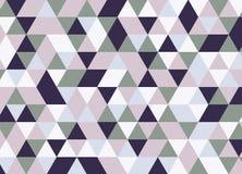 Vector modernes buntes Geometriedreieckmuster, Farbzusammenfassung Stockfoto