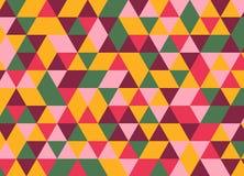 Vector modernes buntes Geometriedreieckmuster, Farbzusammenfassung Stock Abbildung