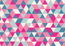 Vector modernes buntes Geometriedreieckmuster, Farbzusammenfassung Lizenzfreie Abbildung