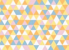 Vector modernes buntes Geometriedreieckmuster, Farbzusammenfassung Lizenzfreies Stockbild