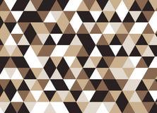 Vector modernes nahtloses buntes Geometriedreieckmuster, Farbe Stock Abbildung