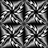 Vector modernes nahtloses Geometriemuster, Schwarzweiss-Zusammenfassung Lizenzfreie Stockfotografie