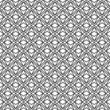 Vector modernes nahtloses Geometriemusterdreieck, abstrakten geometrischen Schwarzweiss-Hintergrund Stockfotografie