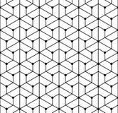 Vector modernes nahtloses Geometriemustergitter, Schwarzweiss-Zusammenfassung Lizenzfreie Stockfotos