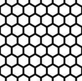 Vector modernes nahtloses Geometriemusterhexagon, Schwarzweiss-Bienenwabenzusammenfassung lizenzfreie abbildung