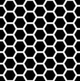 Vector modernes nahtloses Geometriemusterhexagon, Schwarzweiss-Bienenwabenzusammenfassung vektor abbildung