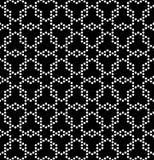 Vector modernes nahtloses Geometriemusterhexagon, Schwarzweiss-Zusammenfassung Lizenzfreie Stockfotos