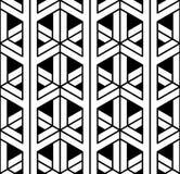 Vector modernes nahtloses heiliges Geometriemuster 3d, Schwarzweiss-Zusammenfassung vektor abbildung