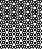 Vector modernes nahtloses heiliges Geometriemuster, Schwarzweiss-Zusammenfassung Lizenzfreies Stockbild