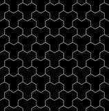 Vector modernes nahtloses heiliges Geometriemuster, Schwarzweiss-Zusammenfassung Stockbilder