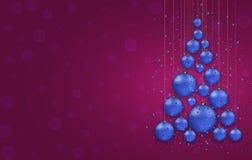 Vector modernes Weihnachts- oder 2018-guten Rutsch ins Neue Jahr-Winterurlaubeinladungskarte Stockbild