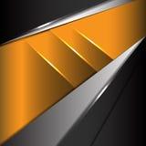 Vector moderno abstracto de la tecnología del metal amarillo Foto de archivo