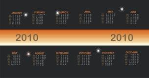 Vector moderno calendar.2010 Imagen de archivo libre de regalías