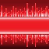 Vector moderno de la etiqueta del gráfico rojo abstracto del equalizador Imágenes de archivo libres de regalías