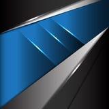 Vector moderno de la tecnología del metal azul abstracto Fotografía de archivo libre de regalías