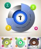 Vector moderno del círculo Imágenes de archivo libres de regalías