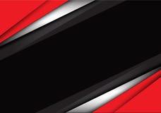 Vector moderno del fondo del diseño gris blanco rojo abstracto de la coincidencia Fotos de archivo