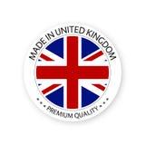 Vector moderno hecho en la etiqueta de Reino Unido stock de ilustración