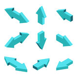 Vector moders set of isometric arrows. On gray background Royalty Free Illustration