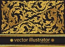 Vector modieuze patroon Thaise traditie Stock Foto