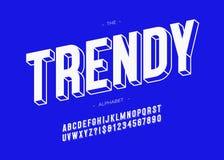 Vector modische Typografie-GROTESK-Art des Gusses 3d mutige Stock Abbildung