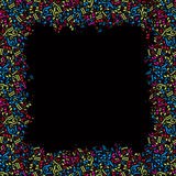 Vector a moldação colorida com notas musicais brilhantes em um CCB preto Imagens de Stock Royalty Free