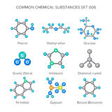 Vector molecular structures of chemical substances isolated on white Stock Photo