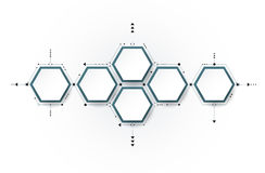 Vector molecule, integrated Hexagon background Royalty Free Stock Photo