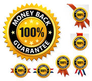Vector money back guarantee sign, label Stock Photography