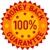Vector money back label Stock Images