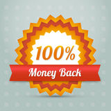 Vector money back label Stock Image