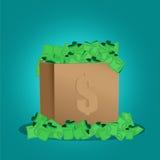 Vector of money in box Royalty Free Stock Photos