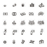 Vector Money and coin icon set on white background Stock Image