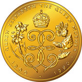 Vector money gold coin Dollar Bermuda Stock Images