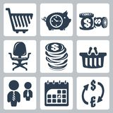 Vector money icons set Stock Photo