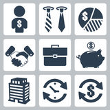 Vector money icons set Royalty Free Stock Photography