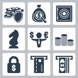 Vector money icons set. Vector isolated money icons set Royalty Free Stock Photography