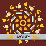 Vector money Icons. Vector money yellow finanse Icons Stock Photo