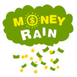 Vector money rain with banknotes and coins Royalty Free Stock Photography