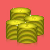 Vector money on red background. Eps10 Royalty Free Stock Images