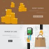 Vector money savings concept Royalty Free Stock Photo