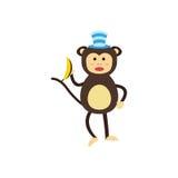 Vector monkey icon. Stock Photography