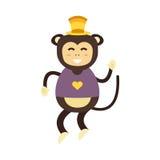 Vector monkey icon. Stock Image