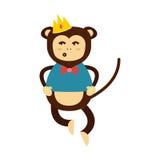 Vector monkey icon. Royalty Free Stock Photos