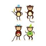 Vector monkey icon. Royalty Free Stock Photo